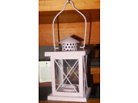 BNWT New with tag Pink Metal Glass Tea Light Candle Lantern Outside Inside Garden hanging lights