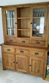 Solid Oak Dresser/ display unit