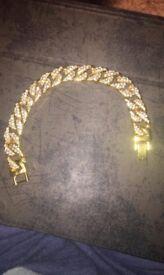 Men's bracelet gold finish