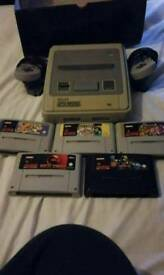 Snes console and games