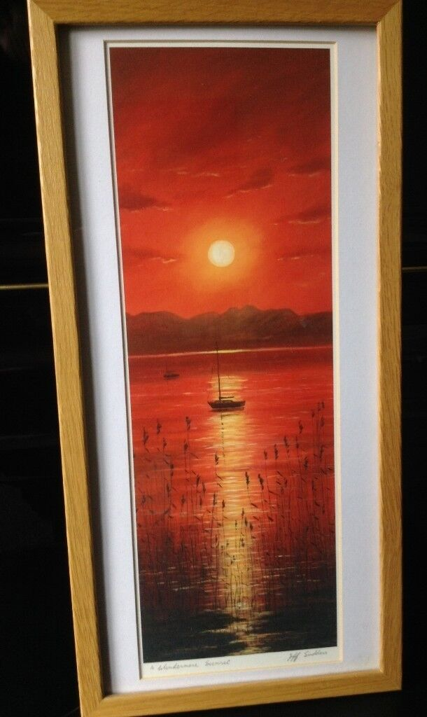 Jeff Sudders A Windermere Sunset print for sale