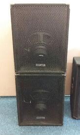 2x 375 Watt Intimidator Reverse Subwoofer Bass-bins SAVE £120 ON NEW!
