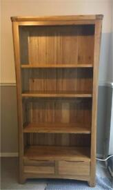 Solid Oak Tall Bookcase (display cabinet)