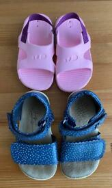 2 x Baby Girls Shoes Sandals