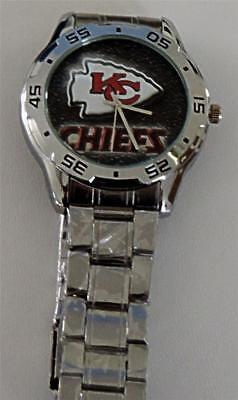 Kansas City Chiefs Quartz Watch Stainless Steel Case and Band - Halloween Kansas City