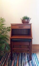 Chippy Heath telephone table*hall seat*hall stand*vintage telephone table*telephone seat*hallway*