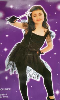 New Girls Black Dark Ballerina Halloween Fancy Dress Up Costume Swan Cat Spider