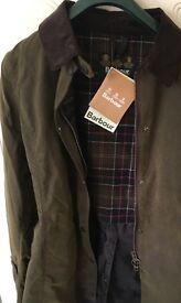 Barbour 'Newmarket' Jacket Size 18 Colour Olive Brand New