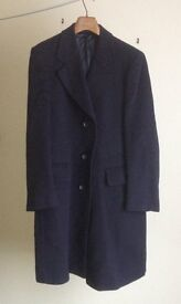 """Gieves and Hawkes of Saville Row , mans overcoat , size 97/38"""" regular , navy blue"""