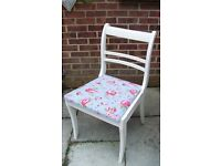 Stunning Shabby Chic Regency Style Living/Dining/Bedroom chair repuholstered in Cath Kidston Fabric