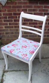 Lovely Regency Style Chair painted in Antique White and reupholstered in any fabric