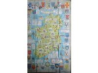 Historical map of Ireland Tea-towel