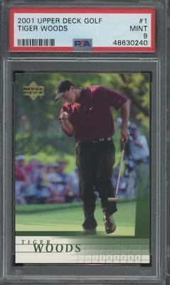 2001 Upper Deck Golf #1 Tiger Woods RC Rookie Mint PSA 9