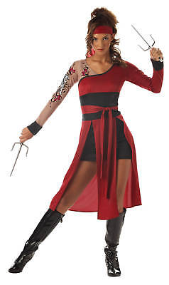 Japanese Tigress Ninja Warrior Street Fighter Girl Kung Fu Teen Costume
