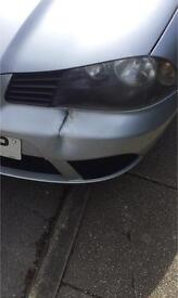 Seat ibiza 2006-2008 silver front bumper needed as quick as possible
