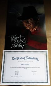 Freddy Krueger SIGNED Photo by Robert Englund with COA