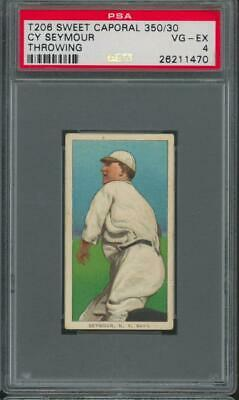 1909 T206 Sweet Caporal Cigarettes Throwing Cy Seymour VG-EX PSA 4