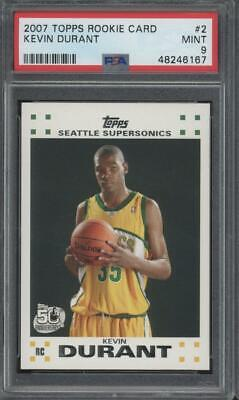 2007 Topps 50th Anniversary #2 Kevin Durant RC Rookie  Mint PSA 9