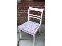 Stunning Regency Style Dining/Bedroom Chair Painted in Clotted Cream or Antique White Colour