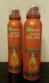 Garnier Ambre Solaire No Streaks Bronzer / Self-tanning Dry Body Mist - Medium