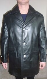 Quality East German Leather Coat