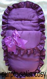 Sale New Handmade Babys Cosytoes 3in1 Footmuff Pram set Blanket
