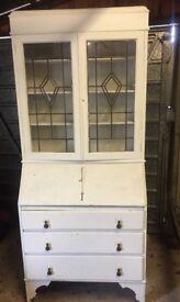 Stunning Bureau / Dresser / Display Cabinet (with original working key)
