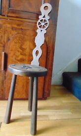 novelty antique punishment chair decoration conversation piece carved victorian oak
