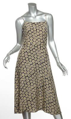 TENDER LOVING CARE for HVN Floral Silk Spaghetti Strap Midi Dress US8 M NEW