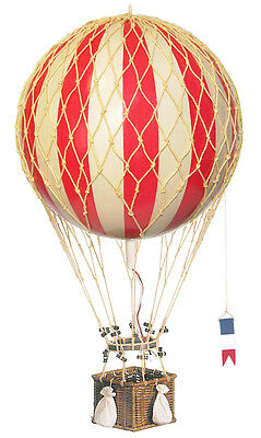 "Red & White Striped Hot Air Balloon 13"" Hanging Model Aircraft Decor"