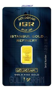 5-X-1-GRAM-999-9-24K-GOLD-BULLION-BAR-WITH-CERTIFICATE