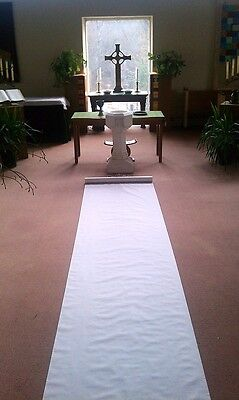 50ft Deluxe White Fabric Wedding Aisle Runner