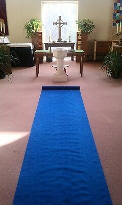 100ft Deluxe Dark Blue Fabric Wedding Aisle ...