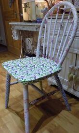 decoupaged chair