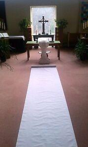 50ft White Fabric Wedding Aisle Runner