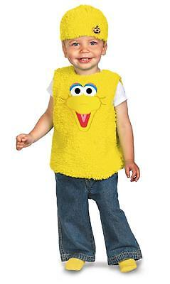 NEW SESAME STREET BIG BIRD HALLOWEEN COSTUME PLUSH Vest boy Toddler size 12m-18m