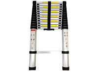 **BRAND NEW BOXED** 3.8m ALUMINIUM MULTI PURPOSE TELESCOPIC EXTENDABLE LADDER EN-131 HOME WORK
