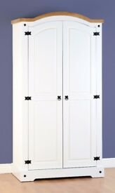 New White or Grey Corona 2 Door wardrobe £239 in store today