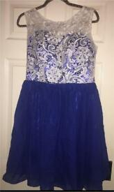 Royal Blue Bridesmaids /Prom Short Dress Size 12-14