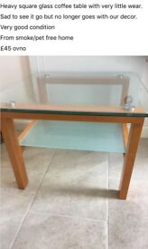 Heavy well made Glass Coffee Table