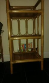 Rattan shelve in good condition.