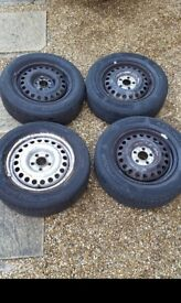Steel wheels and tyres