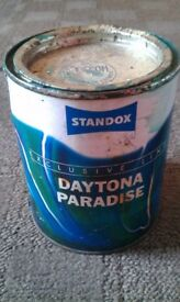Daytona Paradise -500ml Tin of Flip Paint -*** RARE 1964 Shelby Daytona Colour Code***