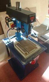 Meddings Pillar Drill/ Bench Drill L1 HRM 3PH with bench Engineering Industrial School Metal Wood