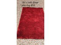 Large deep pile rug