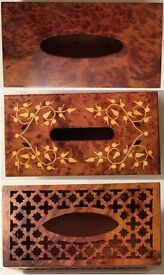 AFRICA MOROCCAN THUYA WOOD,HANDCRAFT,DECORATIVE, NAPKIN ,TISSUE,COVER,HOLDER,