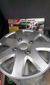 "4 car wheel trims hub caps 13"" new in box"