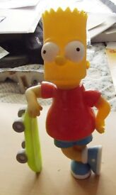 Bart Simpson with Skateboard Figure Resin Foam Bath Full never used sealed