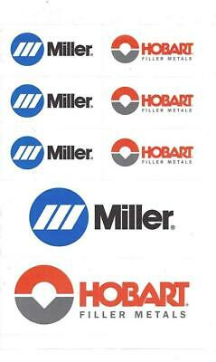 Hobart Miller Electric Welder Decal Sheet4-pairs Brand New Peel Stick