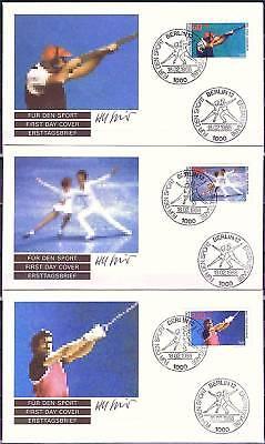 Berlin 1988: Olympische Spiele! Sporthilfe-FDC der Nr. 801-803! 1707